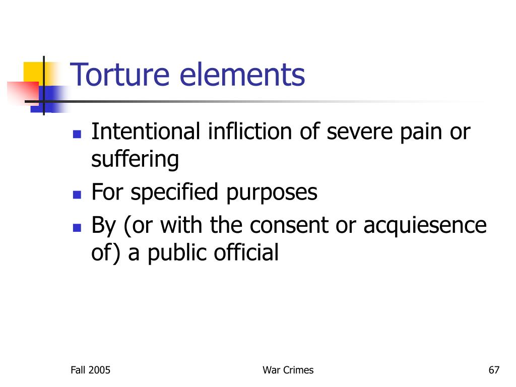 Torture elements
