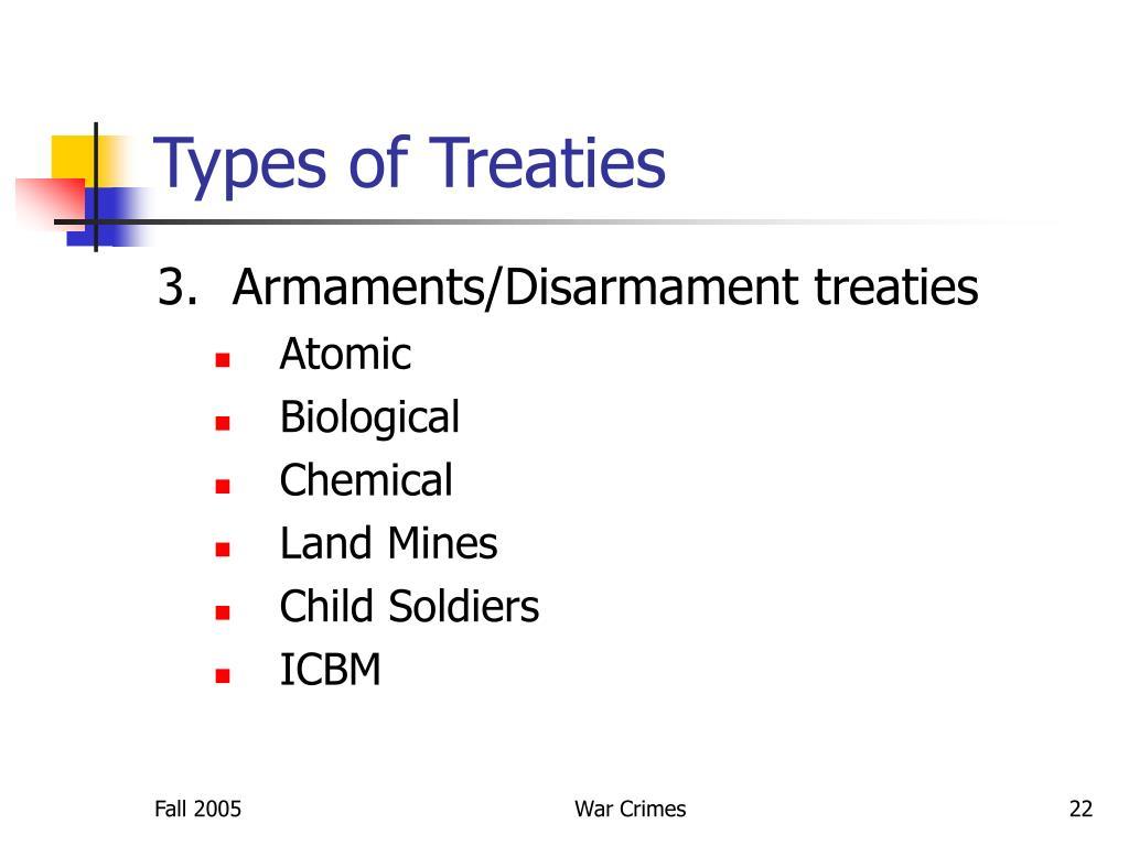 Types of Treaties