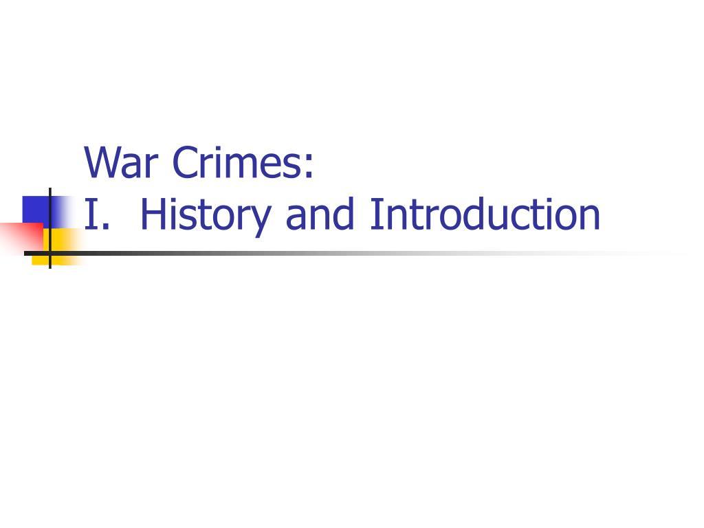 War Crimes: