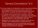 geneva conventions i ii