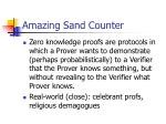 amazing sand counter