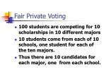 fair private voting