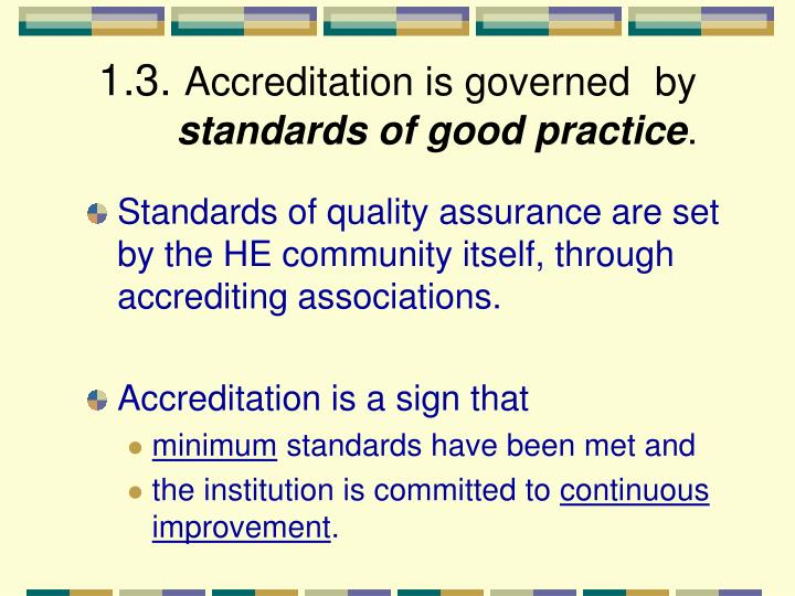the need for higher standards in continued education in the united states In the united states, accreditation means that the institution that you are  in  order to determine if these meet the standards for higher education  to make  certain that the entire institution continues to meet that standard  most non- profit colleges have regional accreditation, not national accreditation.
