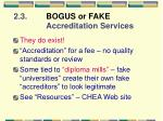 2 3 bogus or fake accreditation services