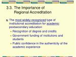 3 3 the importance of regional accreditation