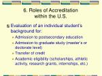 6 roles of accreditation within the u s