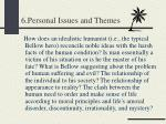 6 personal issues and themes