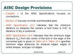 aisc design provisions