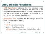 aisc design provisions34