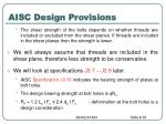 aisc design provisions35