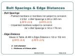 bolt spacings edge distances
