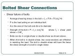 bolted shear connections18