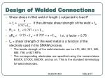 design of welded connections67
