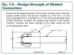 ex 7 6 design strength of welded connection