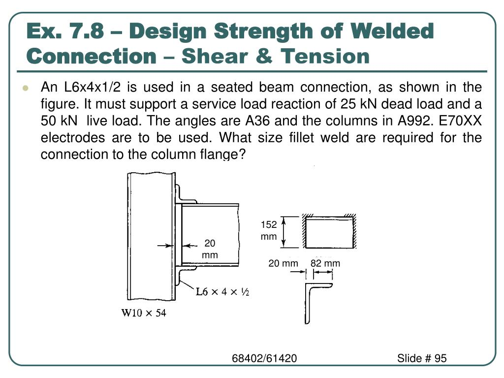 Ex. 7.8 – Design Strength of Welded Connection