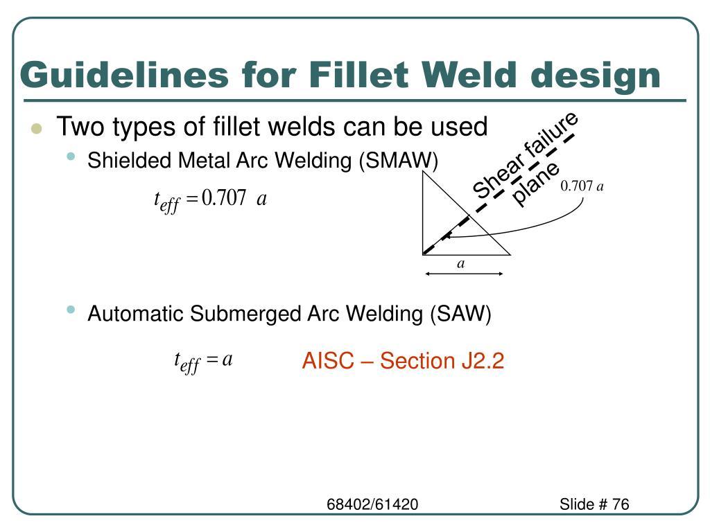 Guidelines for Fillet Weld design