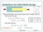 guidelines for fillet weld design78