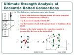 ultimate strength analysis of eccentric bolted connections122