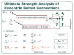 ultimate strength analysis of eccentric bolted connections123