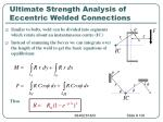 ultimate strength analysis of eccentric welded connections100