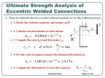 ultimate strength analysis of eccentric welded connections104