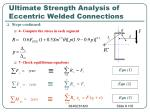 ultimate strength analysis of eccentric welded connections105