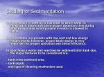 settling or sedimentation1
