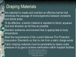 draping materials