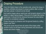draping procedure