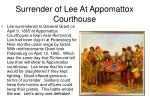 surrender of lee at appomattox courthouse
