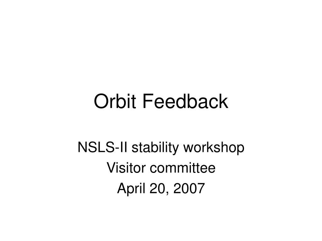 orbit feedback l.