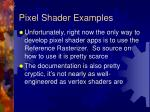 pixel shader examples