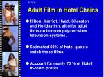 adult film in hotel chains