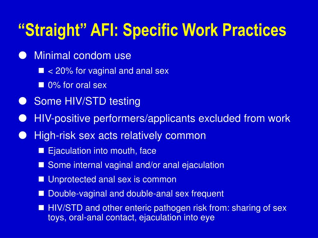 """Straight"" AFI: Specific Work Practices"
