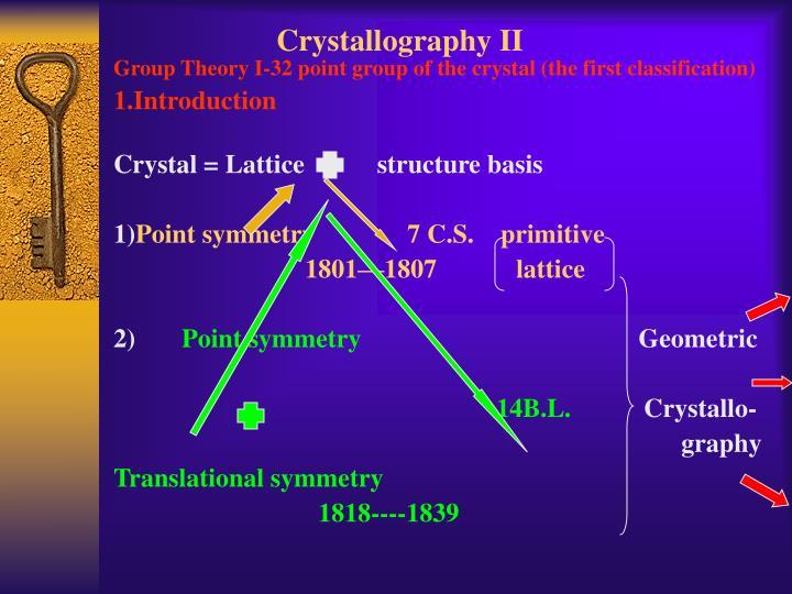 crystallography ii n.