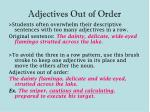 adjectives out of order