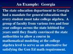an example georgia