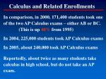 calculus and related enrollments85