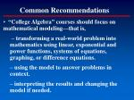 common recommendations18