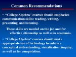 common recommendations19