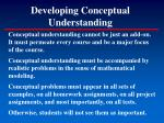 developing conceptual understanding