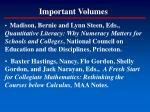 important volumes22