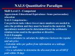 nals quantitative paradigm152