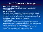 nals quantitative paradigm153