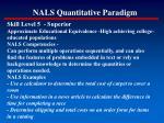 nals quantitative paradigm154