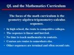 ql and the mathematics curriculum