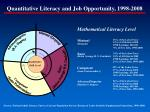 quantitative literacy and job opportunity 1998 2008