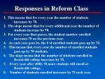 responses in reform class