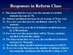 responses in reform class48