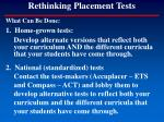 rethinking placement tests115